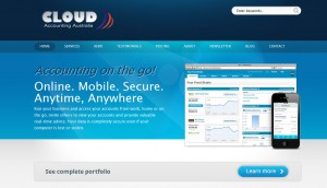 cloud accounting web design