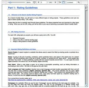 Google Quality Rater Handbook